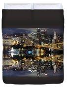 Pittsburgh Dusk Reflection 2 Duvet Cover