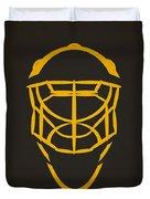 Pittsburgh Penguins Goalie Mask Duvet Cover