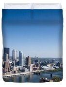 Pittsburgh Pennsylvania Skyline Duvet Cover