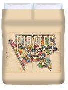 Pittsburgh Pirates Poster Art Duvet Cover