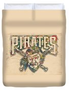 Pittsburgh Pirates Poster Vintage Duvet Cover