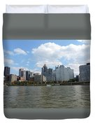 Pittsburgh Skyline From The Waterfront Duvet Cover