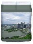 Pittsburgh - View Of The Three Rivers Duvet Cover