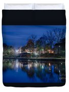 Pittsford On The Erie Canal Duvet Cover