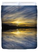 Pittwater Sunset Abstract Duvet Cover