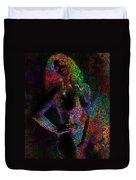 Pixel Girl Duvet Cover
