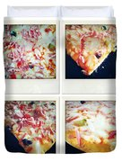 Pizza Duvet Cover by Les Cunliffe