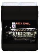 Pizza Town Duvet Cover