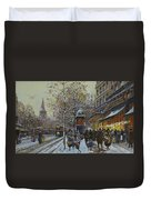Place De La Republique Paris Duvet Cover by Eugene Galien-Laloue