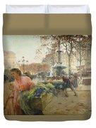 Place Du Theatre Francais Paris Duvet Cover