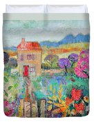 Place In The Country, 2014, Acrylicpaper Collage Duvet Cover