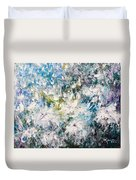 Place Where The Flowers Bloom Forever Duvet Cover