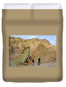 Places To Climb In Golden Canyon In Death Valley National Park-california Duvet Cover