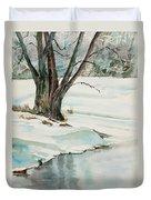 Placid Winter Morning Duvet Cover