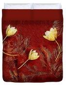 Plain Flowers Pop Art Duvet Cover