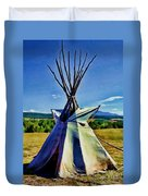 Plains Tribes Teepee Duvet Cover