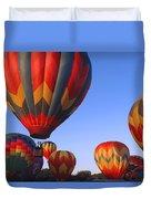 Plainville Hot Air Balloon Fesitval Duvet Cover