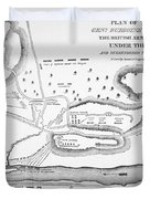 Plan Of The Battle Of Saratoga October 1777 Duvet Cover