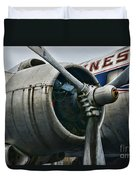 Plane Check Your Engine Duvet Cover