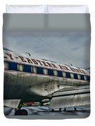 Plane Fly Eastern Air Lines Duvet Cover