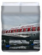 Plane Obsolete Capital Airlines Duvet Cover