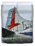 Plane Tail Wing Eastern Air Lines Duvet Cover