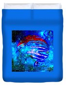 Planet Disector Blue/red Duvet Cover