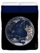 Planet Earth 600 Million Years Ago Duvet Cover