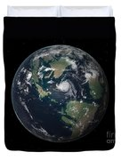 Planet Earth 90 Million Years Ago Duvet Cover by Walter Myers