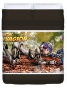 Planetary Invasion Duvet Cover