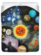 Planets And Nebulae In A Day Duvet Cover