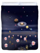 Planets Of The Solar System Surrounded Duvet Cover