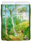 Plantain Walk Watchman And Hut Duvet Cover