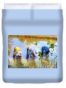 Planting Rice Duvet Cover