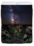 Plants Vs Milky Way Duvet Cover