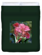 Plastic Wrapped Pink Flower By Diana Sainz Duvet Cover