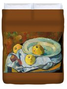 Plate Of Apples Duvet Cover by Paul Serusier