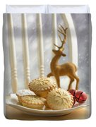Plate Of Mince Pies Duvet Cover