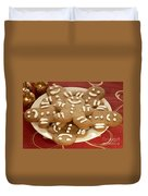Plateful Of Gingerbread Cookies Duvet Cover by Juli Scalzi