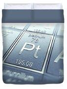 Platinum Chemical Element Duvet Cover
