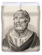 Plato From Crabbes Historical Dictionary Duvet Cover