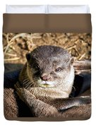 Play Time For Otters Duvet Cover