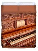 Piano Keys In The Key Of Life Duvet Cover