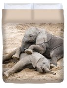 Playful Elephant Calves Duvet Cover