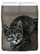 Playful Kitten Duvet Cover