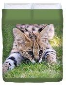 Playful Serval Duvet Cover