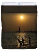 Playful Sunset Duvet Cover