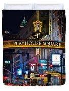 Playhouse Square Duvet Cover