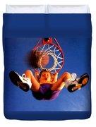 Playing Basketball Duvet Cover