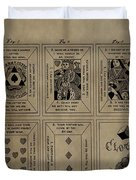 Playing Cards Patent Duvet Cover
